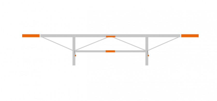 Extension package 2 x 0.5 m, F2/F2+
