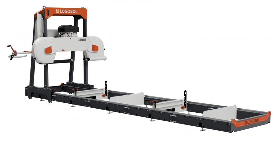 B1001 Bandsaw Mill (gas, 23 hp) with electric start