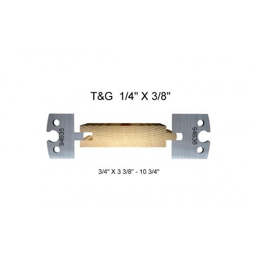 """T&G 1/4"""" x 3/86"""""""